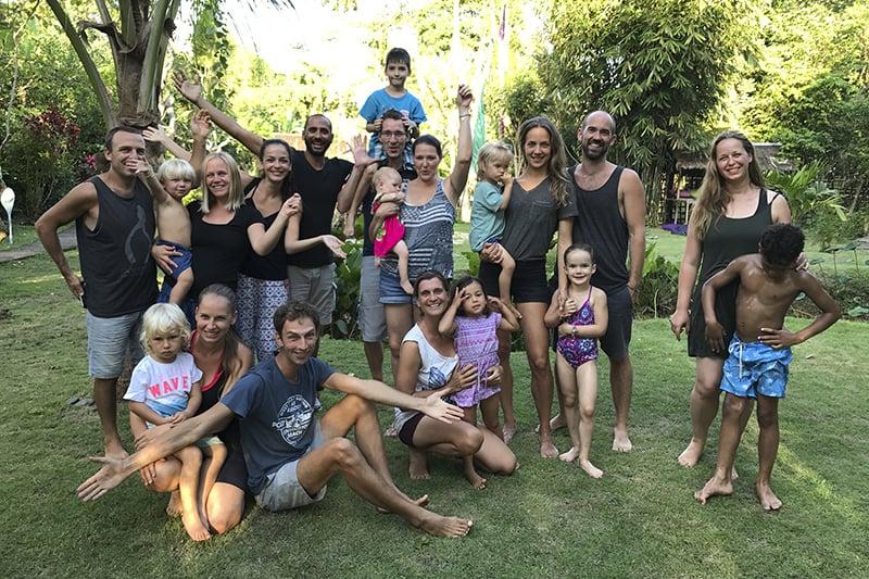 Meet Up mit anderen Familien in Ubud