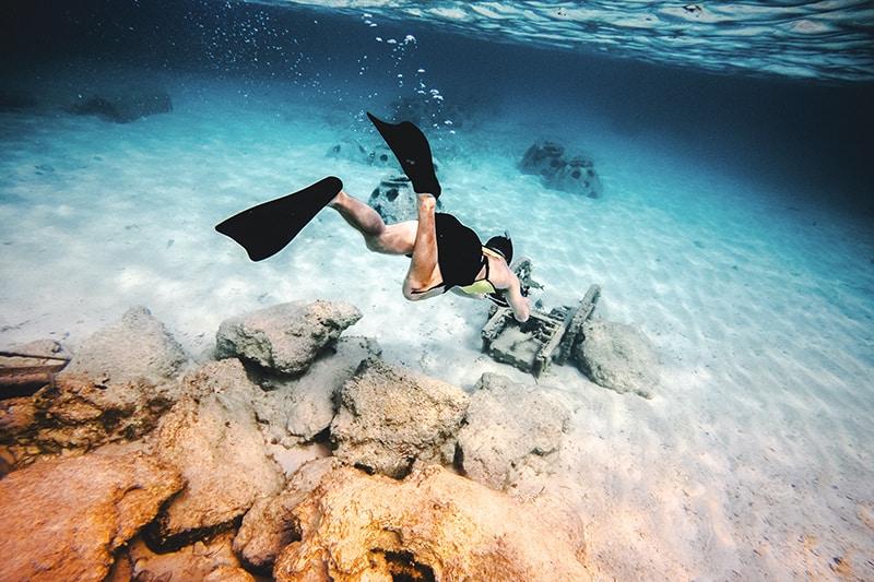 Schnorcheln im glasklaren Meer